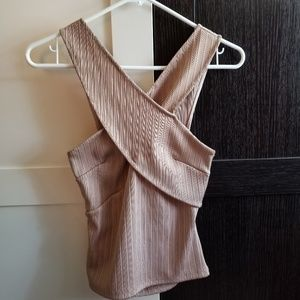 Asos Dusty Pink Top Backless size 4